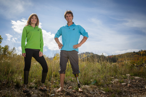 World champion snowboarders Amy Purdy and Evan Strong join The Hartford's team of athlete ambassadors. (Photo: Business Wire)