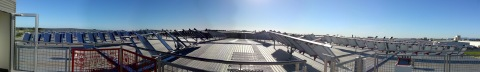 Upsolar's smart modules power Australia's largest smart solar array atop a Hilton Manufacturing facility (Photo: Business Wire)