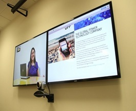 In the above photo you can see a product launch meeting held for the new UppTM. Polycom video meetin ...