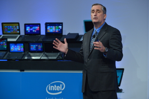 "Pictured: Intel CEO Brian Krzanich, tells investors at Intel's annual investor meeting on Nov. 21, "" ..."
