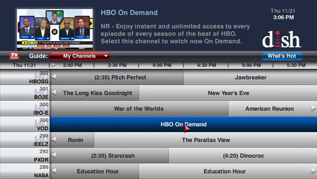 Arts and entertainment network: dish network satellite tv.