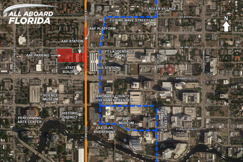 Pictured here is the All Aboard Florida Fort Lauderdale Station Map (Photo: Business Wire)