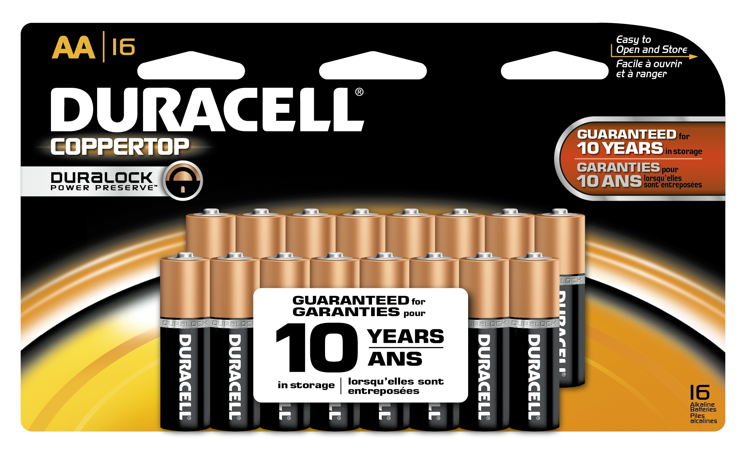 Duracell CopperTop AA 16 pack (Graphic: Business Wire)