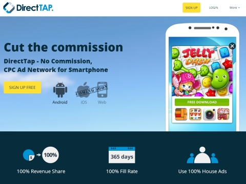 DirectTAP Home Page (Graphic: Business Wire)