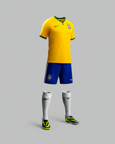 NIKE's new Brasilian National Team Kit will be worn by the host country next summer and combines performance innovation, culturally-relevant design cues and environmental sustainability. (Photo: Business Wire)