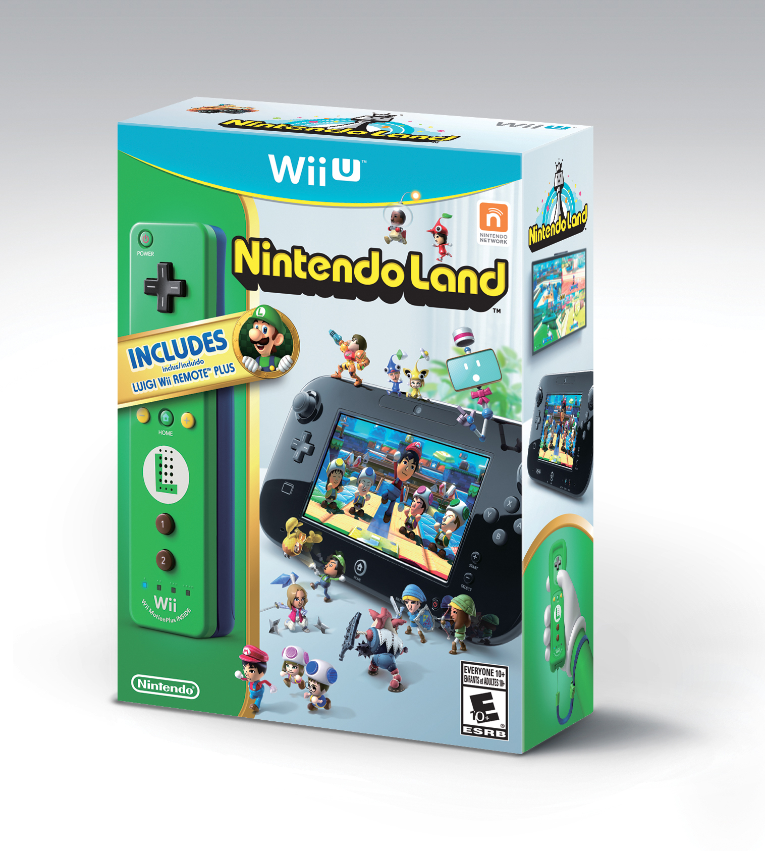 Nintendo Land for Wii U comes packaged with a Luigi-themed Wii Remote Plus controller (Photo: Business Wire)