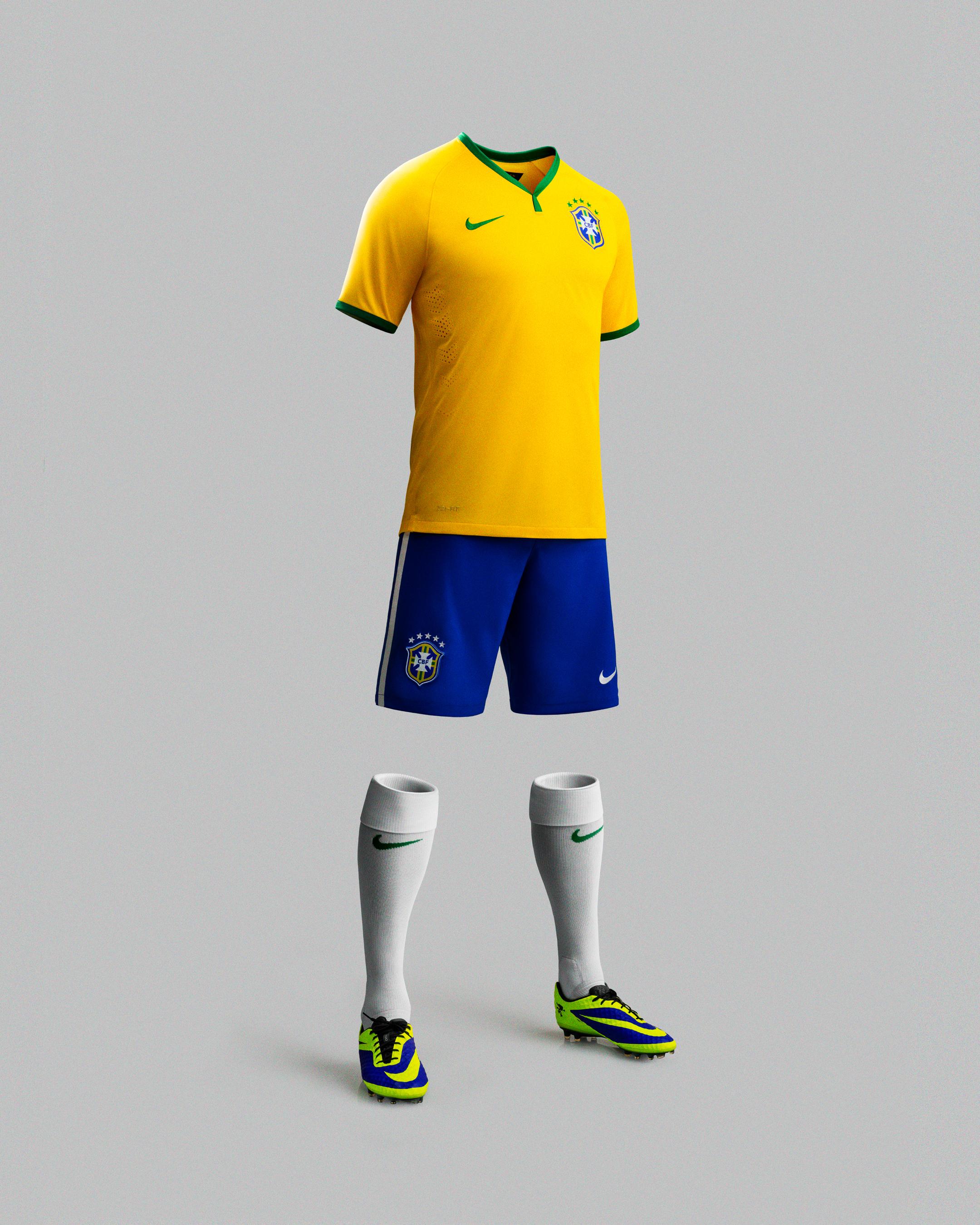 NIKE rivela il completo della nazionale brasiliana 2014