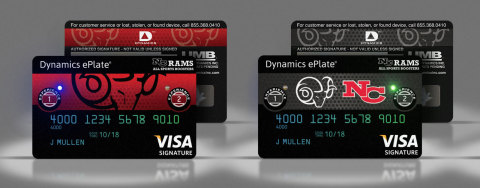 New Dynamics ePlate(R) Visa(R) card brings pro and college team branded card approach to support high school athletic programs. (Photo: Business Wire)
