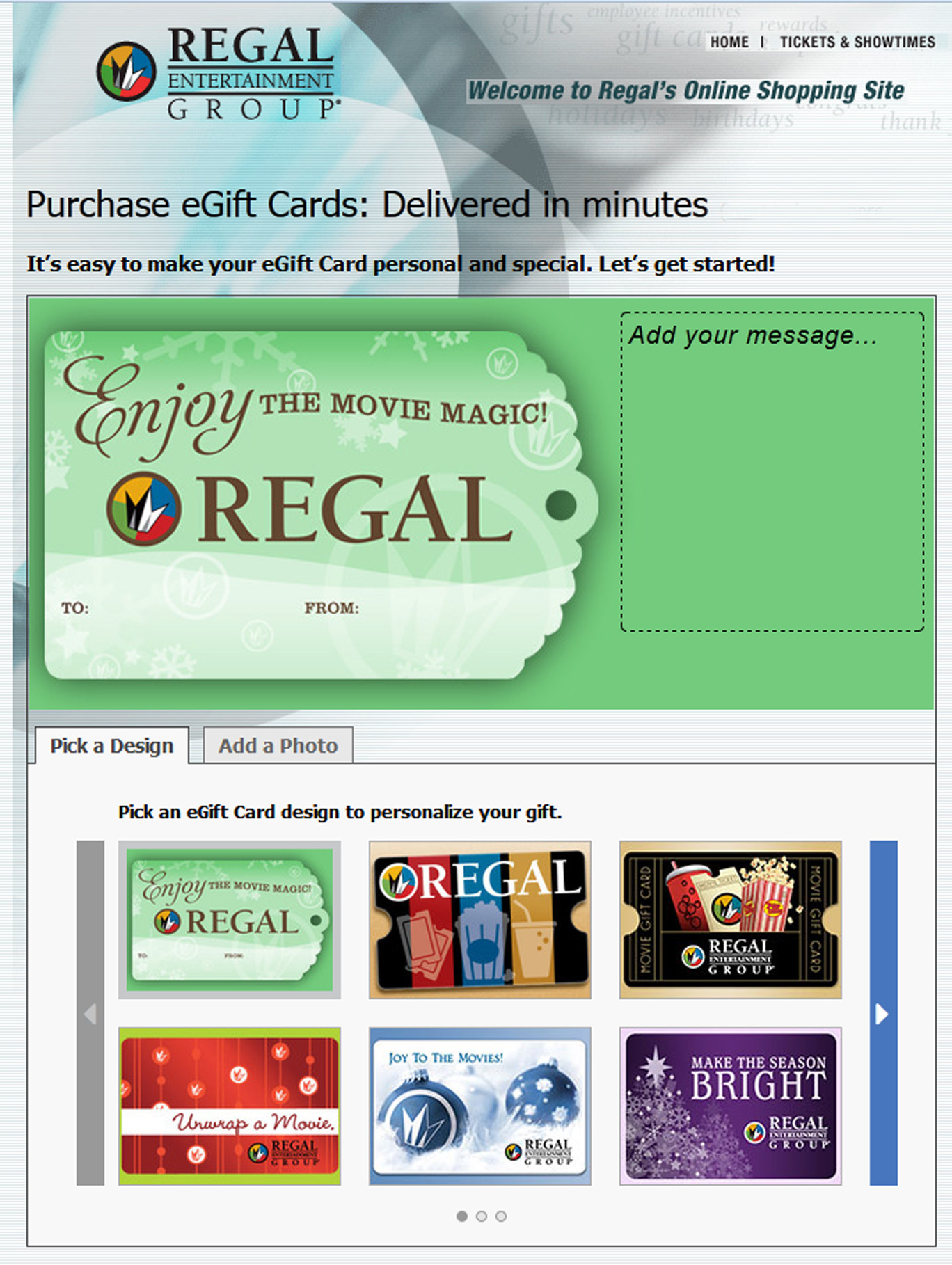 Regal Entertainment Group Announces Cyber Monday Gift Card Offer ...