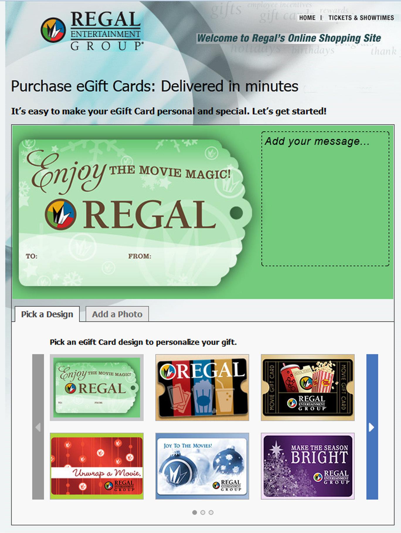 regal entertainment group announces cyber monday t card offer