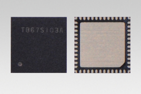 "Toshiba: ""TB67S103A"" a stepping motor driver which can drive motors by signals through a serial inte ..."