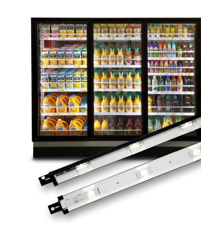 GE's Immersion(TM) RV60 LED lighting system enhances the visual appeal of merchandise by casting a b ...