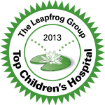 The Leapfrog Group has named Lucile Packard Children's Hospital at Stanford as a Top Children's Hospital 2013 based on measurements of a hospital's performance on patient safety and quality. (Graphic: Business Wire)