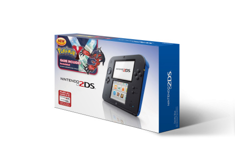"""Toys""""R""""Us will offer an exclusive Pokémon Y bundle at stores nationwide and online at http://www.toysrus.com. The bundle will include a blue Nintendo 2DS system and the Pokémon Y game pre-loaded on an SD card at a suggested retail price of $149.99. (Photo: Business Wire)"""