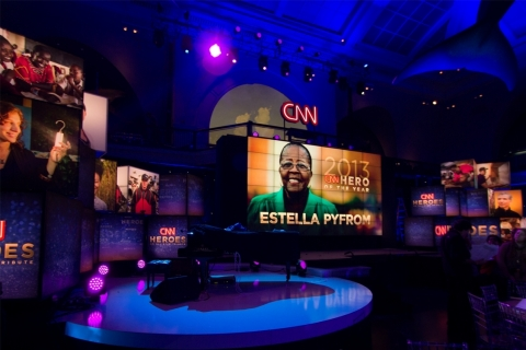 4K Video Wall for CNN Heroes (Photo: Business Wire)