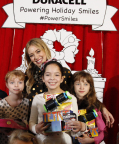 """Hilary Duff kicks off the Duracell """"Powering Holiday Smiles"""" program benefiting Children's Miracle Network by handing out toys and the Duracell batteries that power them at The Hospital for Sick Children (SickKids) in Toronto. (Photo: Business Wire)"""