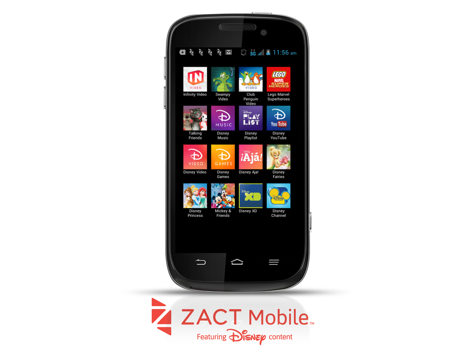 Zact's ZTE Awe is full of Disney content and a family friendly price for the holidays. (Photo: Business Wire)