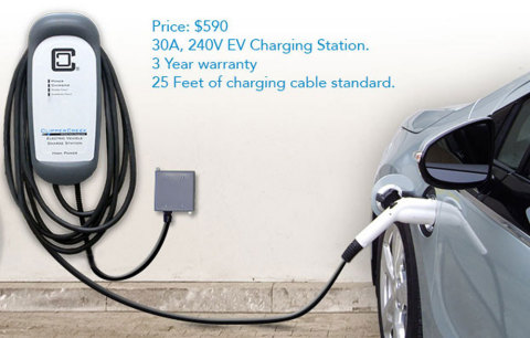 HCS-40, Lowest Priced 30 Amp 240V Vehicle Charge Station Starting at $590 (Photo: Business Wire)