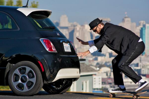 "Picked from over 10,000 entries, Jamie Moore's winning photo for the ""Jonesin' For A Fiat 500e"" scor ..."