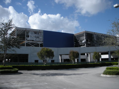Iconic blue exterior begins to transform future Miami-Dade IKEA store opening summer 2014 in Sweetwater, FL (Photo: Business Wire)