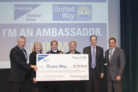 The Principal Financial Group Pledges Record $6.7 Million to United Way (Photo: Principal Financial)