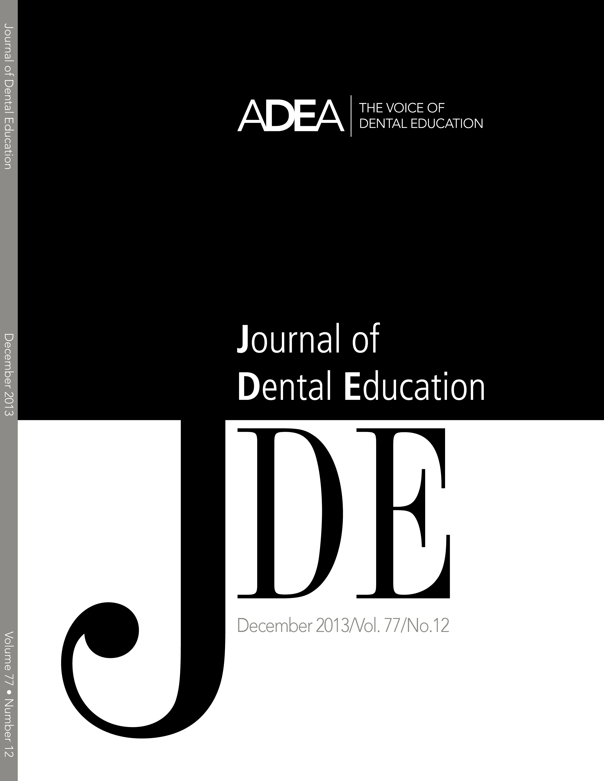 Adea journal of dental education article surveys student opinion on full size greentooth Gallery