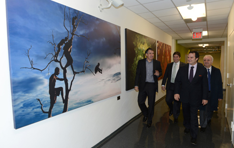 Visiting New York for the inauguration ceremony of the agency's New York bureau, Anadolu Agency's CE ...