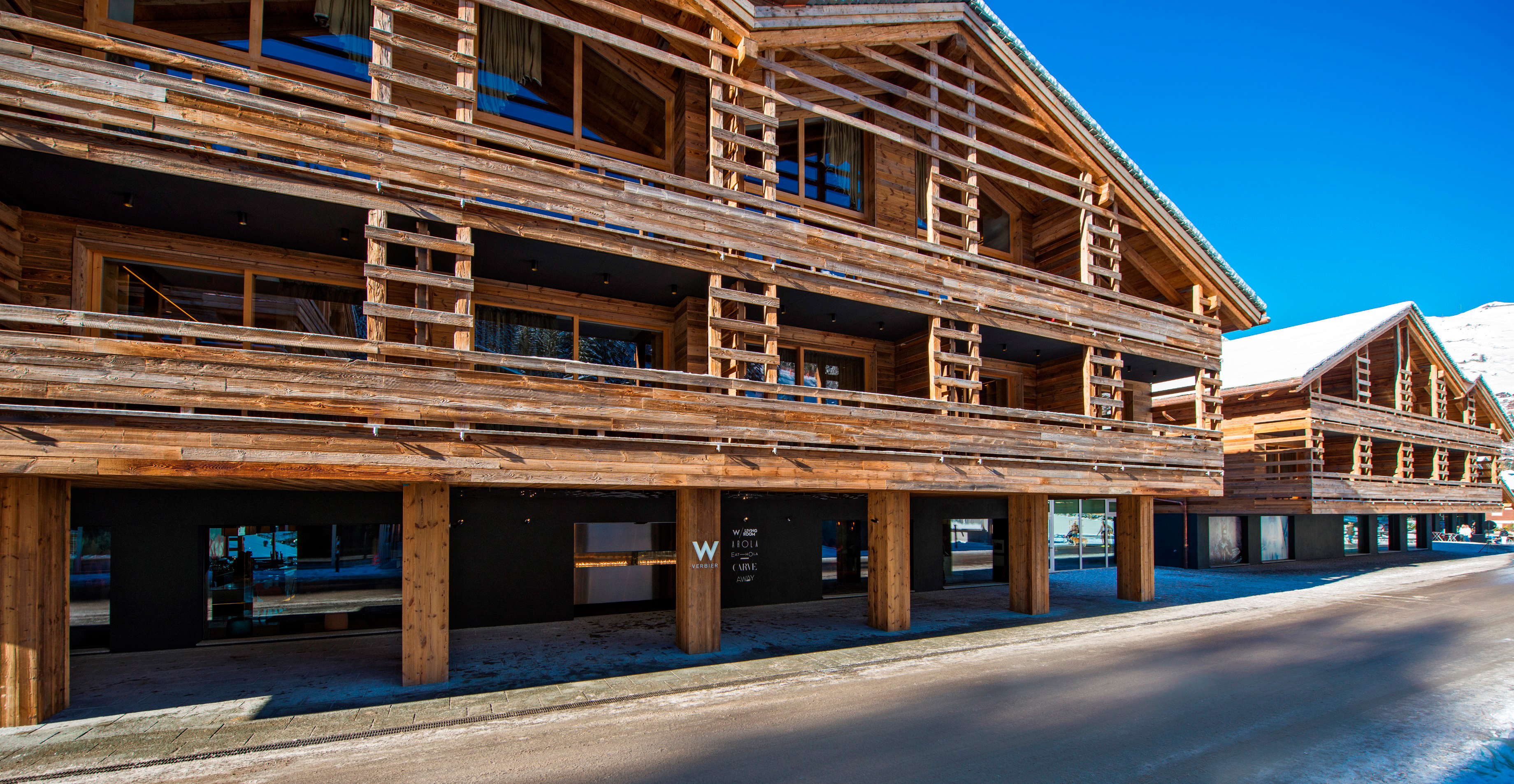 The Entrance of W Hotel Verbier (Photo: Business Wire)