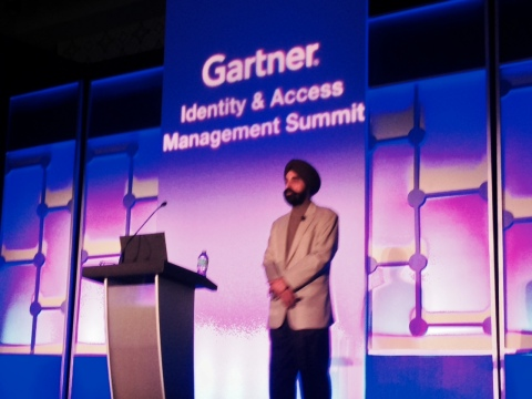 AlertEnterprise CEO Jasvir Gill, presenting session on IT-OT Convergence at the Gartner Identity and ...