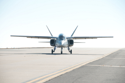 Scorpion jet on runway at McConnell Air Force Base, Wichita, Kansas (Photo: Business Wire)