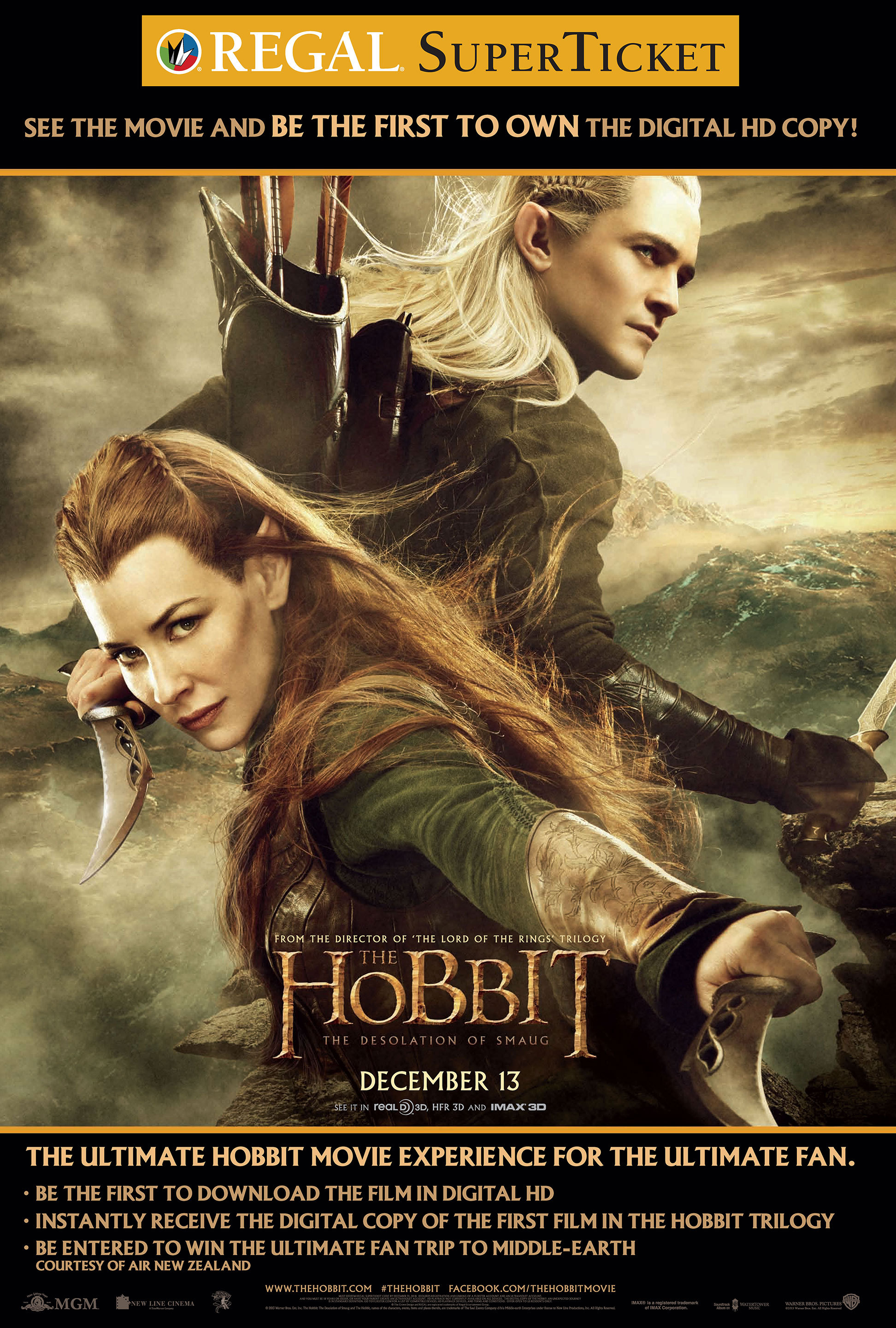 """regal entertainment group becomes """"hobbit headquarters"""" with more"""