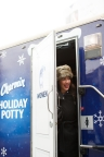 Jillian Harris, host of Love It or List It Vancouver, and the Charmin Bear open the Charmin Holiday Potty event at the Distillery Historic District's annual Toronto Christmas Market. #HolidayPotty (Photo: Business Wire)