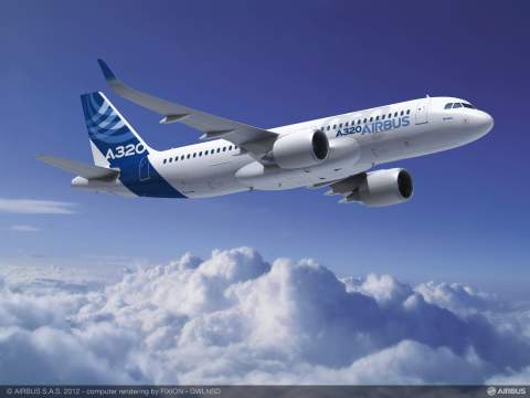Alcoa has signed a multi-year agreement to supply Airbus with value-add titanium and aluminum aerospace forgings for Airbus's aircraft, including the A320neo (shown here), Airbus's most fuel-efficient single-aisle jet. (Photo: Business Wire)