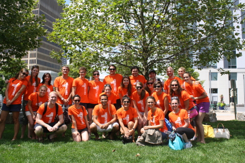 The March team on their summer outing - canoeing on the Charles River. (Photo: Business Wire)