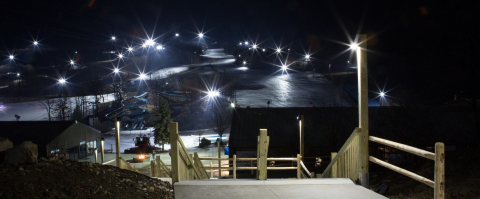 Montage Mountain is one of the few ski resorts on the East Coast to utilize LED lighting. The energy efficient lighting upgrade required no upfront investment from the resort as part of an electricity supply contract through Constellation's Efficiency Made Easy. (PHOTO CREDIT: MONTAGE MOUNTAIN)
