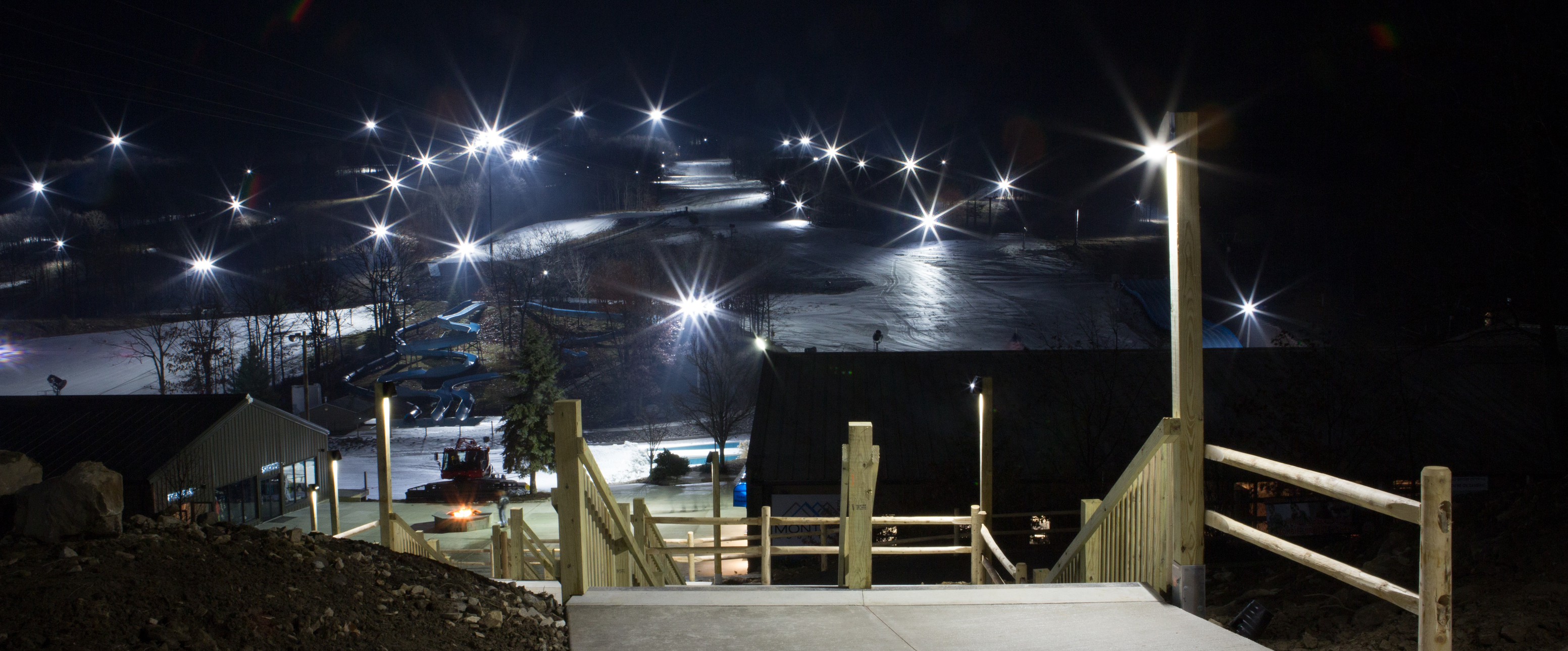 Bright Ski Season Ahead: Montage Mountain Installs Energy Efficient LED  Trail Lighting | Business Wire Photo