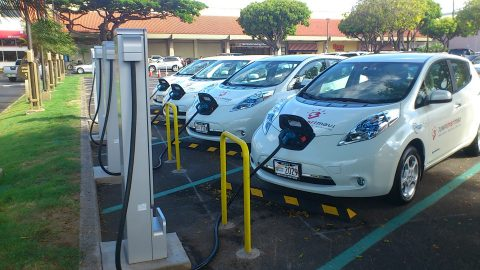 The EV Battery Charger at the Demonstration Site for Japan-U.S. Island Grid Project in Hawaii (Photo ...