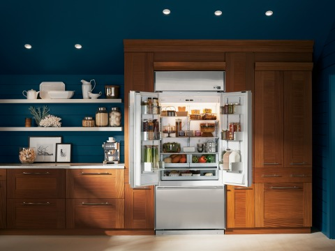 The GE Monogram® French door built-in refrigerators are crafted to create an authentic experience in ...