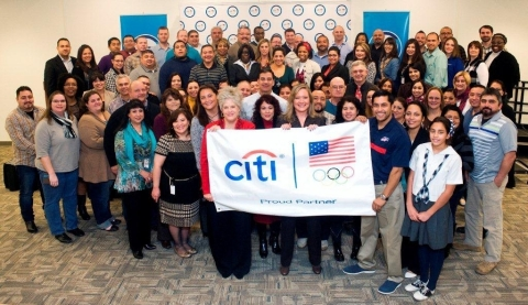 Citi San Antonio employees join U.S. Paralympic sled hockey player and Team Citi athlete Rico Roman  ...