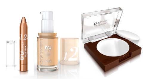 COVERGIRL TruBlend Fixstick, Liquid Makeup and TruMagic Skin Perfector (Photo: Business Wire)