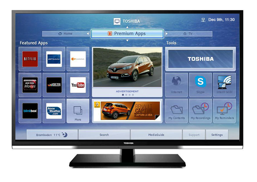 YuMe First to Deploy Advertising on Toshiba Cloud TV in
