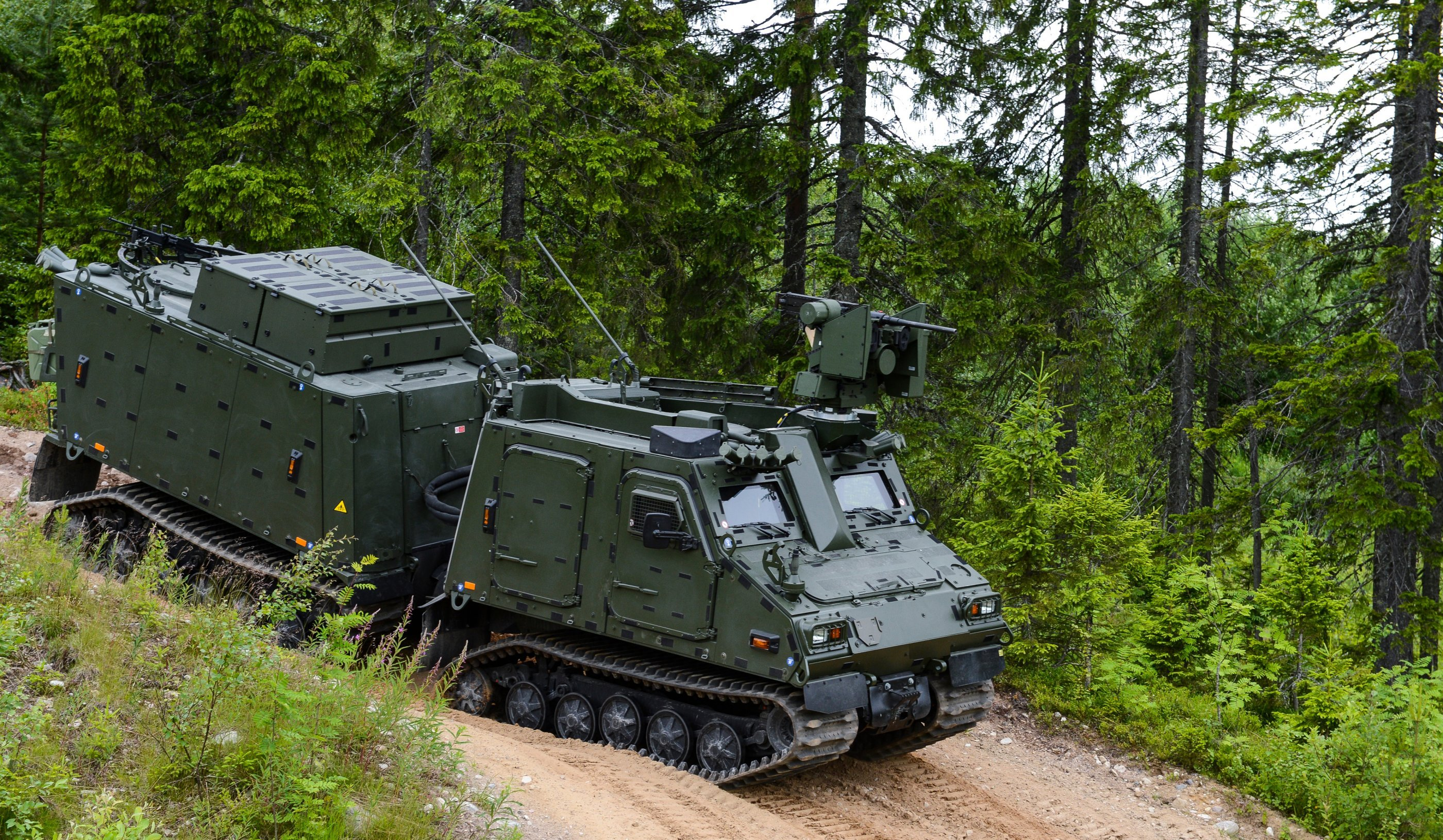 The BvS10 armored all-terrain vehicle is designed to provide total operational support where other vehicles cannot. (Photo: BAE Systems, Inc.)