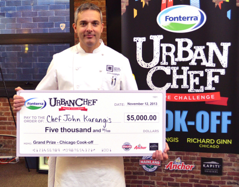 Fonterra Urban Chef Challenge Winner John Karangis, Executive Chef of Union Square Events in New York City (Photo: Business Wire)