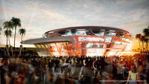 Las Vegas All Net Arena Exterior (Photo: Cuningham Group Architecture, Inc.)