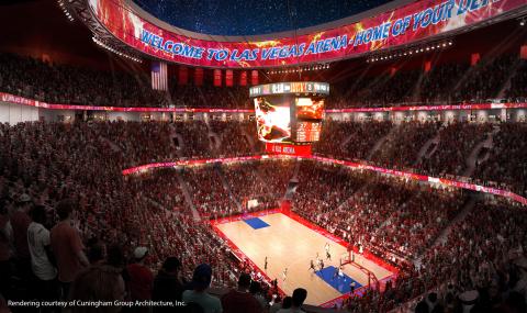 Las Vegas All Net Arena Interior (Photo: Cuningham Group Architecture, Inc.)