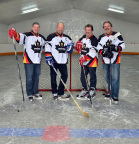 SSGM December 2013 Cover Shot (l-r) Meineke Canada franchise partners Andrew Jackson, hockey legend Wendel Clark, Cam Campli and Duane Arbeau, Meineke Canada vice-president and general manager. (Photo: Nicola Betts)