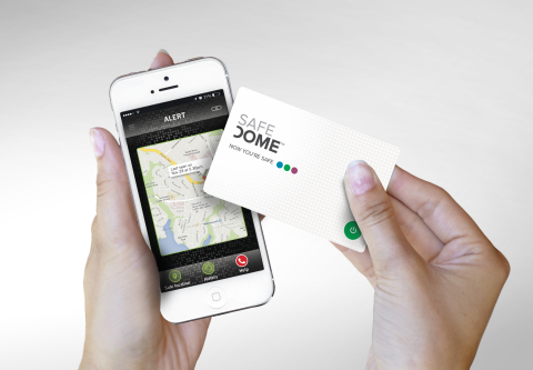 Safedome is the first product to securely pair a credit card-sized hardware device that fits into a ...