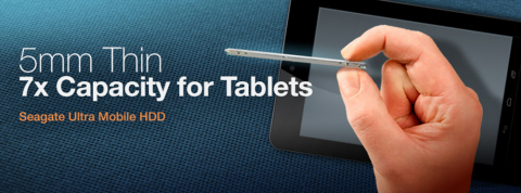 Seagate Ultra Mobile HDD Redefines the Tablet Market (Graphic: Business Wire)