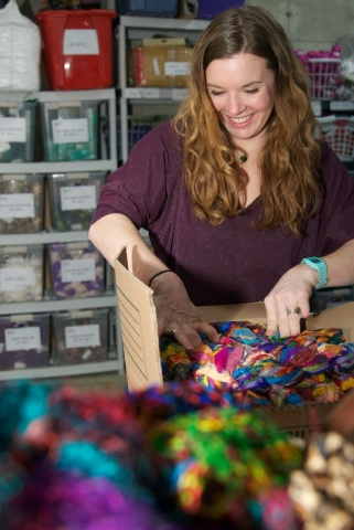 The winner of last year's Small Business Grant Competition was Darn Good Yarn, a small business based in Sebec, Maine and founded by Nicole Snow in 2008. (Photo: Business Wire)