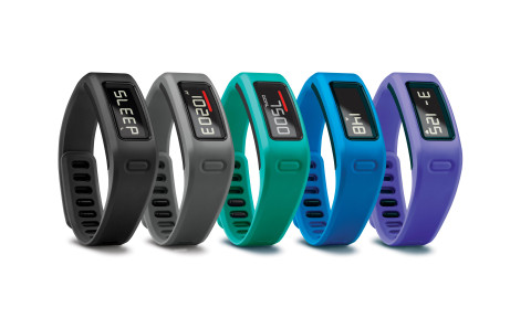 Garmin(R) vívofit(TM) is a stylish, lightweight fitness band designed to turn good intentions into l ...